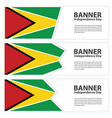 guyana flag banners collection independence day vector image vector image