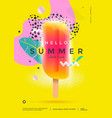 hello summer poster design for party or sale vector image vector image