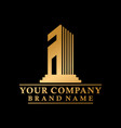 initial a real estate logo creative concept vector image vector image