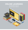 isometric linear e-learning vector image vector image