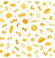 italian pastaand macaroni seamless pattern of vector image