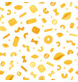 italian pastaand macaroni seamless pattern vector image vector image