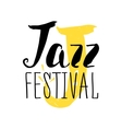 Jazz festival poster design Music poster vector image