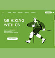 landing page go hiking with us concept vector image