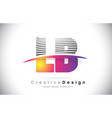 lb l b letter logo design with creative lines and vector image vector image