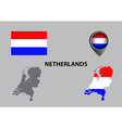 Map of Netherlands and symbol vector image vector image