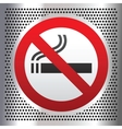 No smoking symbol on a chromium background vector | Price: 1 Credit (USD $1)