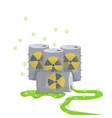 nuclear energy barrel nature air pollution vector image vector image