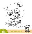 numbers game education game for children panda vector image vector image