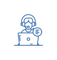 online counseling line icon concept online vector image vector image