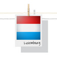 photo of luxembourg flag vector image vector image