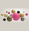 realistic abstract 3d ball geometric memphis vector image