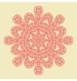 Red Mandala Doodle Print vector image vector image