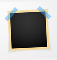retro photo frame with shadows vector image vector image