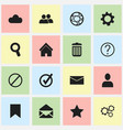 set of 16 editable network icons includes symbols vector image