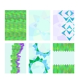 Set of cards with abstract images vector image vector image