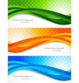 set wavy banners vector image vector image