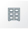 shelving unit icon line symbol premium quality vector image