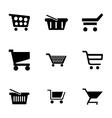 shopping cart icons set vector image vector image
