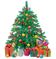 Spruced Christmas tree vector image vector image