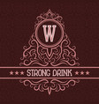 strong drink label design template patterned vector image