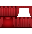 ter curtains vector image vector image