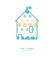 texture circles stripes abstract house silhouette vector image vector image