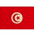 Tunisia paper flag vector image vector image