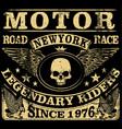 Vintage motorcycle hand drawn grunge vintage