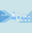 water bottle banner vector image vector image