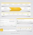 Web site navigation menu pack 3 vector image vector image