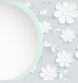beautiful wreath of spring flowers white daisies vector image