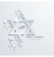 star of David background vector image