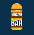 burger bar print design for cafe vector image