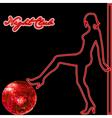 night club advert vector image