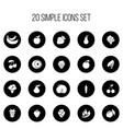set of 20 editable dessert icons includes symbols