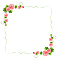 A border with carnation pink flowers vector image vector image