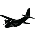airplan silhouette vector image vector image