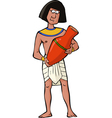 ancient egyptian craftsman vector image vector image
