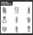 artificial insemination outline isometric icons vector image vector image