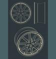automotive alloy wheels vector image vector image