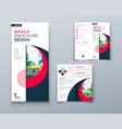 bi fold brochure or flyer design with circle vector image vector image