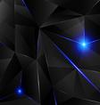 Black crystal - blue vector image vector image