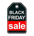 black friday sale tag isolated on white background vector image vector image