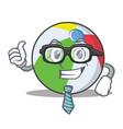 businessman ball character cartoon style vector image
