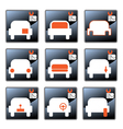 Car care centre symbolics vector image vector image