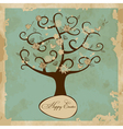 Card with Easter Tree vector image vector image