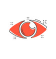 cartoon eye icon in comic style eyeball look sign vector image