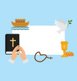 christianity religion symbols vector image vector image