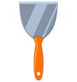 colorful cartoon construction spatula vector image vector image